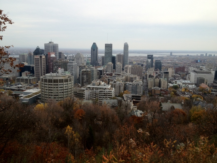 The leaves change over Montreal as autumn draws in. View from Mt-Royal. (Deborah Baremberg / Permission of Photographer)