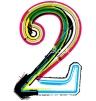 Grunge colorful font. Number