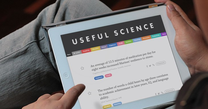 Useful Science is a new site that aims at making science understandable and applicable. Source: Jaan Altosaar, used with permission.