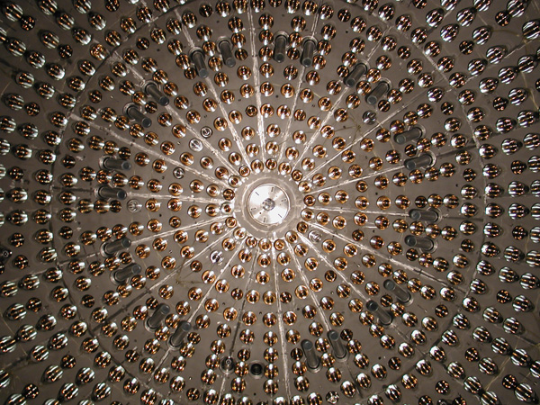 The light concentrator inside the Borexino Experiment, a real-time detector for low-energy solar neutrinos. (Borexino Collaboration)