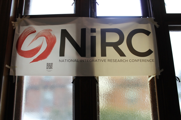 The NiRC banner hangs proud outside the reception of the 2014 conference at McGill University (Deborah Baremberg / Freelance photographer)